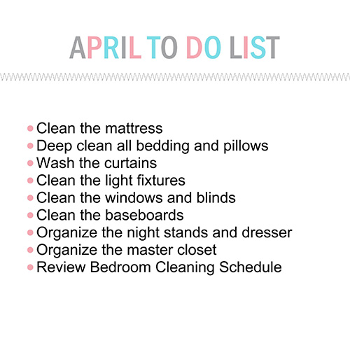 April To Do List-001