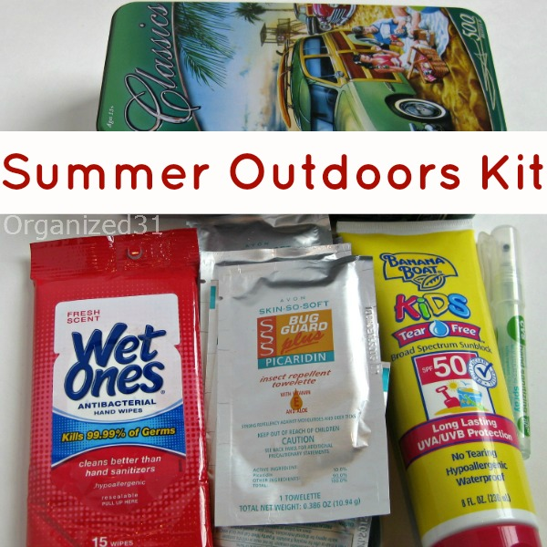 Ready for the Summer Outdoors Kit - Organized 31